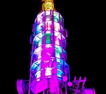 Lys på TV tårnet, en unik attraksjon for Harstad